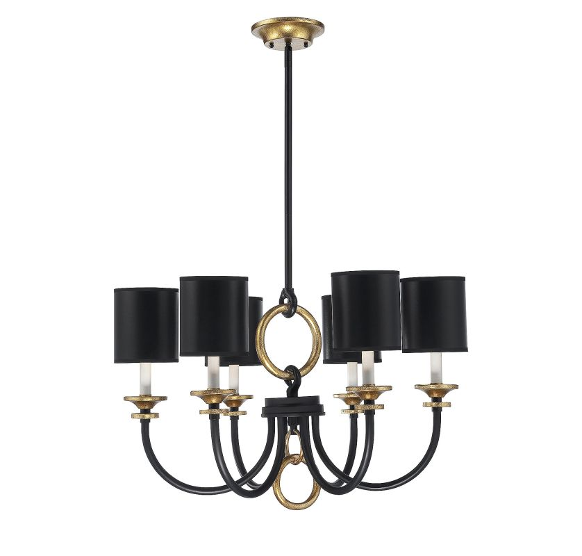 Savoy House 1-560-6 Parkdale 6 Light Chandelier Matte Black Indoor