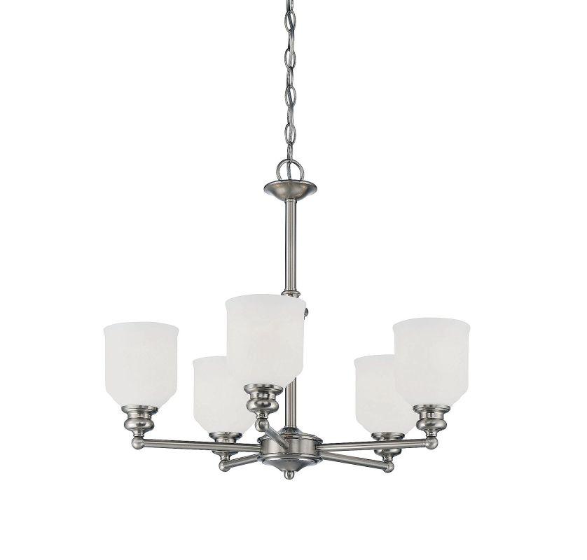 Savoy House 1-6837-5 Melrose 5 Light Chandelier Satin Nickel Indoor