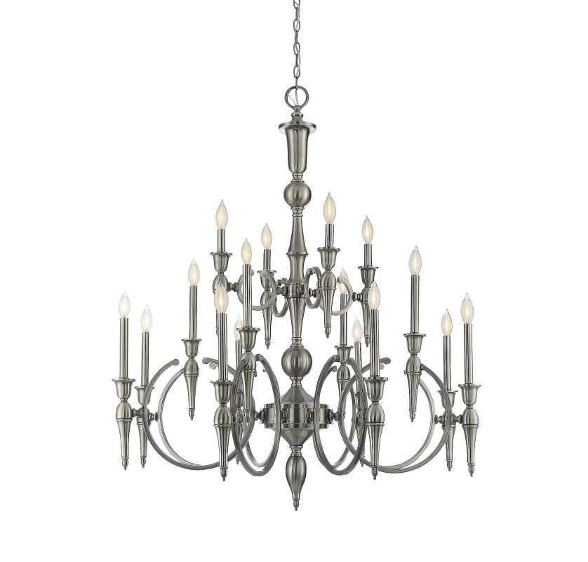 Savoy House 1-860-16 Shannon 16 Light Chandelier Polished Pewter