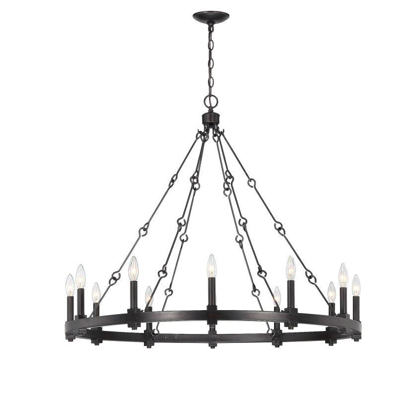 Savoy House 1-931-12 Adria 12 Light Chandelier English Bronze Indoor