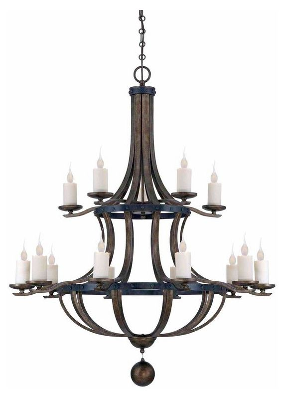 "Savoy House 1-9533-15 Alsace 15 Light 48"" Wide 2 Tier Chandelier"