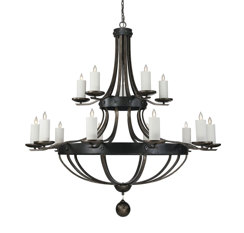 Savoy House 1-9544-15 Alsace 15 Light Chandelier Reclaimed Wood Indoor