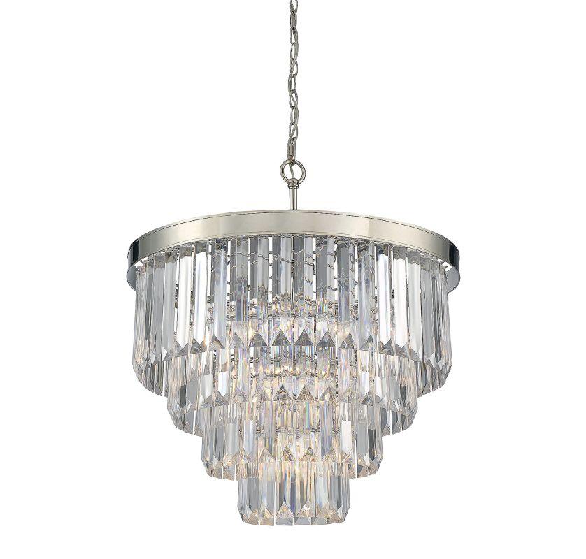 Savoy House 1-9800-6 Tierney 6 Light Chandelier Polished Nickel Indoor