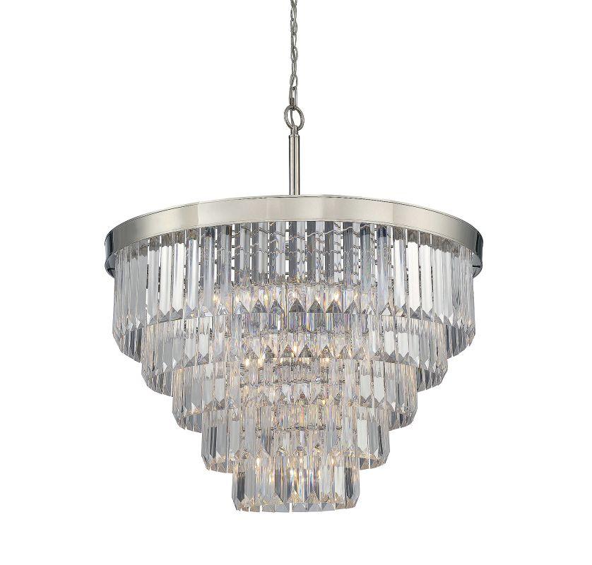 Savoy House 1-9802-9 Tierney 9 Light Chandelier Polished Nickel Indoor