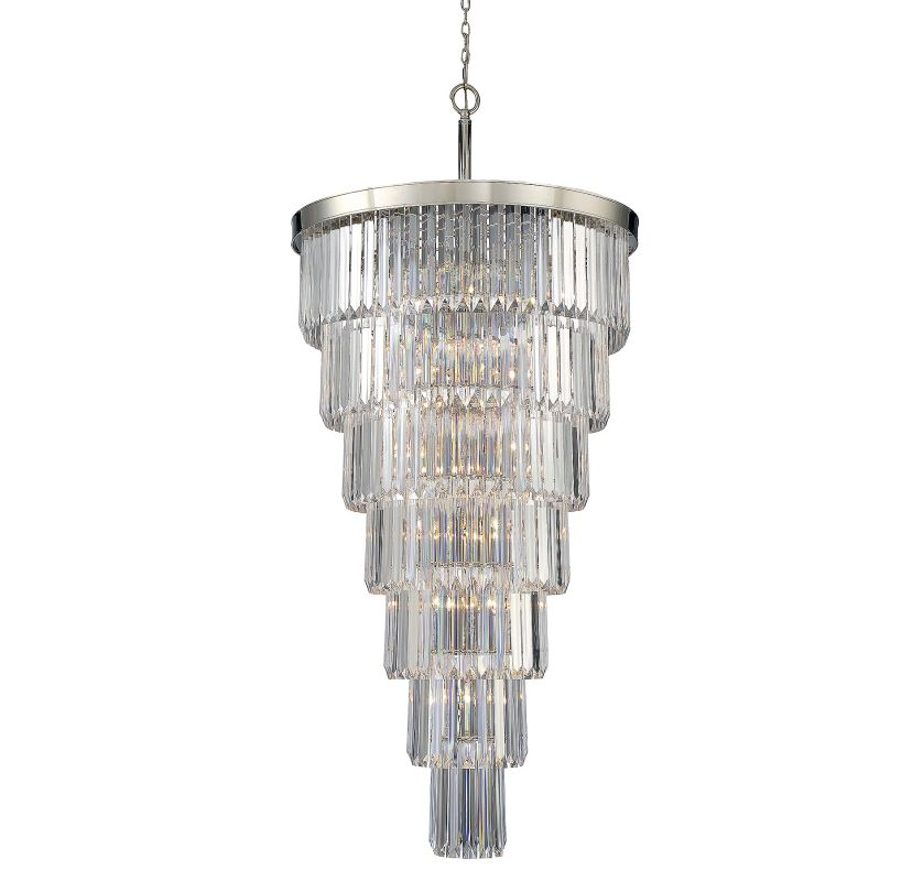 Savoy House 1-9803-19 Tierney 19 Light Chandelier Polished Nickel