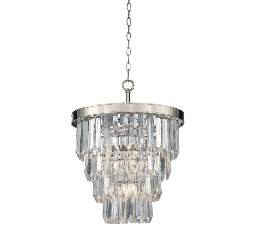 Savoy House 1-9805-4 Tierney 4 Light Chandelier Polished Nickel Indoor