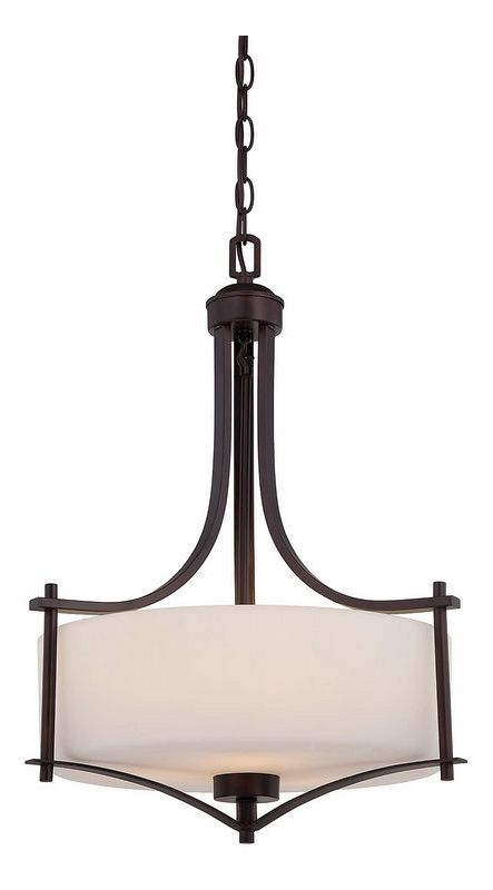"Savoy House 3-333-3 Colton 3 Light 18"" Wide Pendant English Bronze"