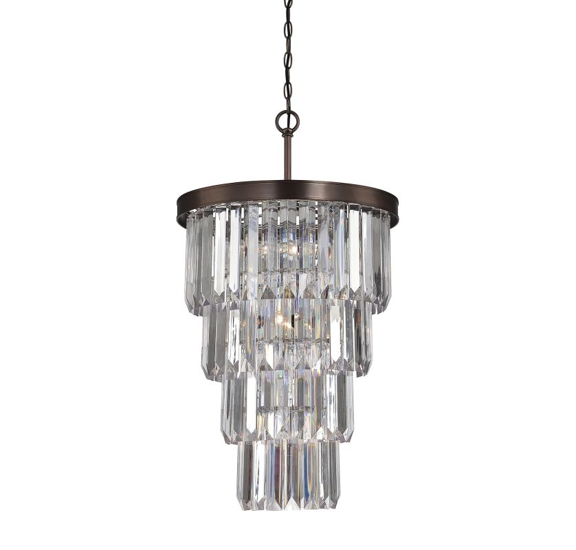 "Savoy House 3-9801-7 Tierney 7 Light 19"" Wide 1 Tier Chandelier with"