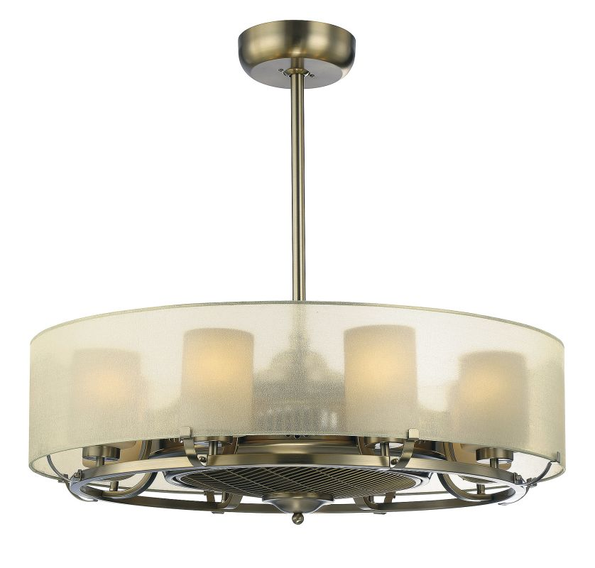 Savoy House 32-334-FD Vinton 8 Light Air Ionizing Fandelier Burnished