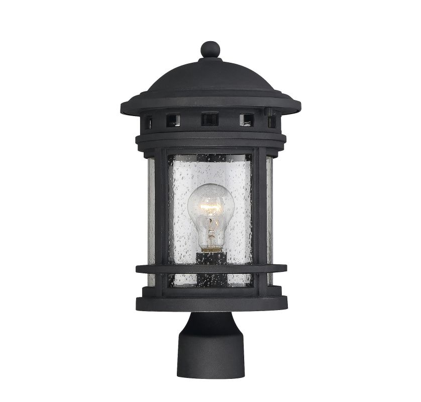 Savoy House 5-363 Upton 1 Light Outdoor Post Light Black Outdoor