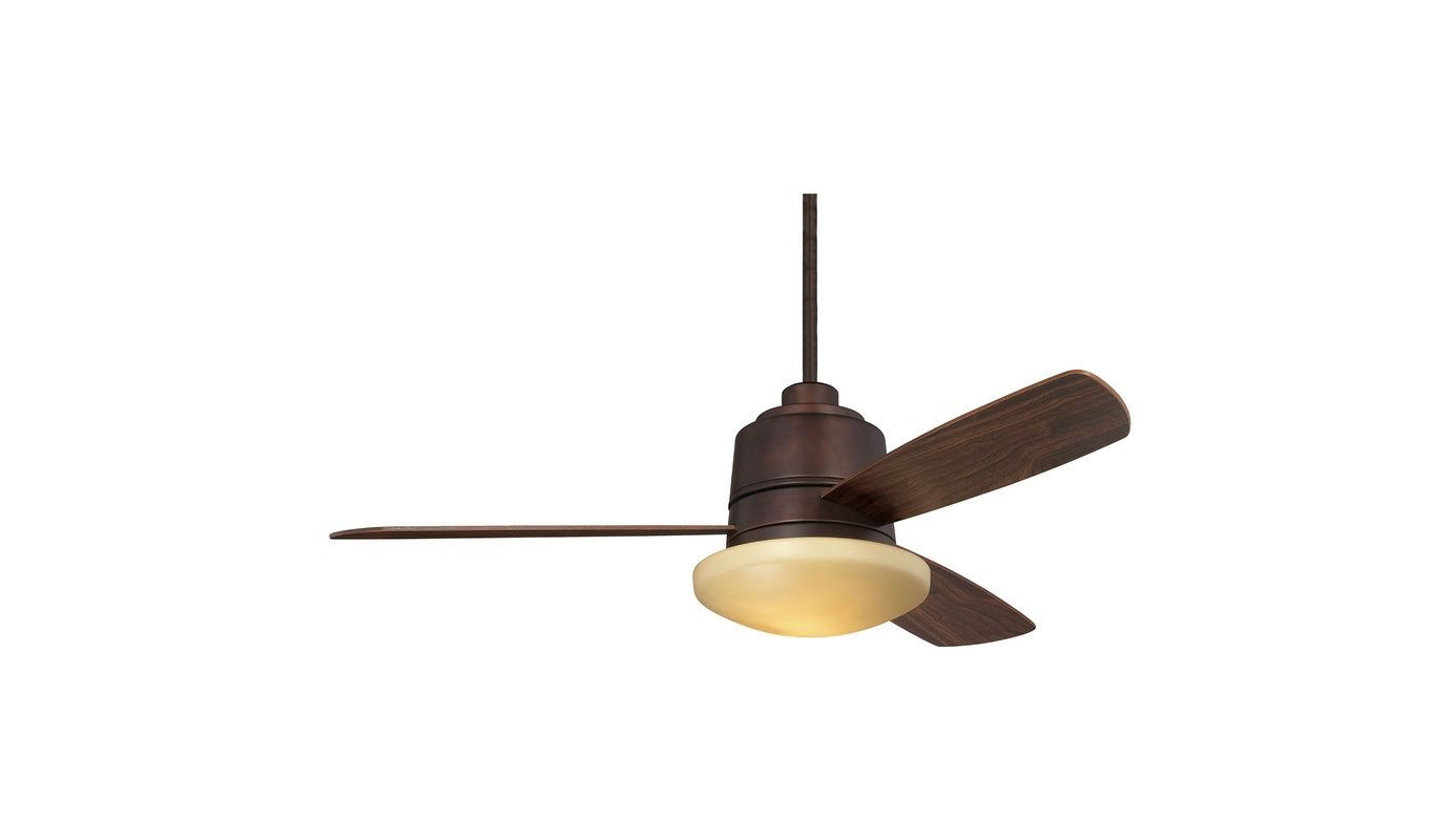 "Savoy House 52-417-3 Polaris 52"" Span 3 Blade Indoor Ceiling Fan with"