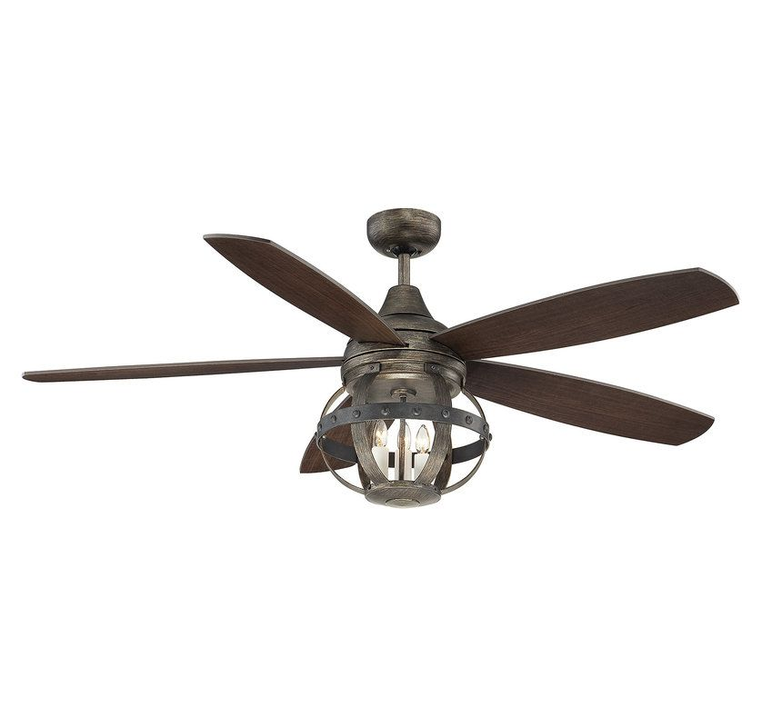 Savoy House 52-840-5 Alsace 5 Blade 3 Light Hanging Ceiling Fan with