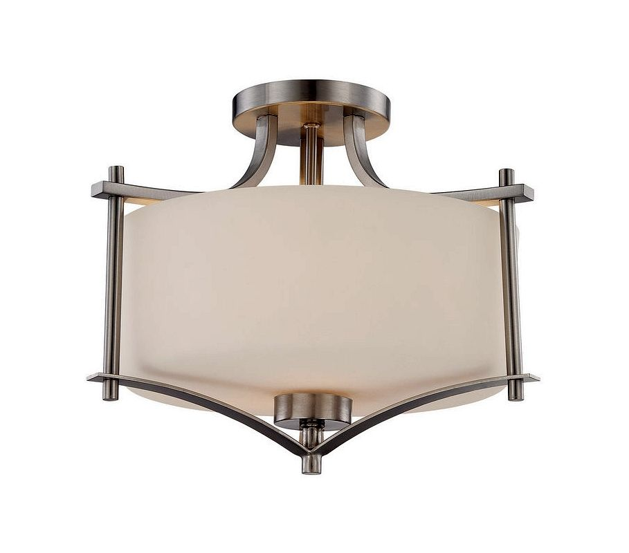 "Savoy House 6-334-2 Colton 2 Light 15"" Wide Semi-Flush Ceiling Fixture"