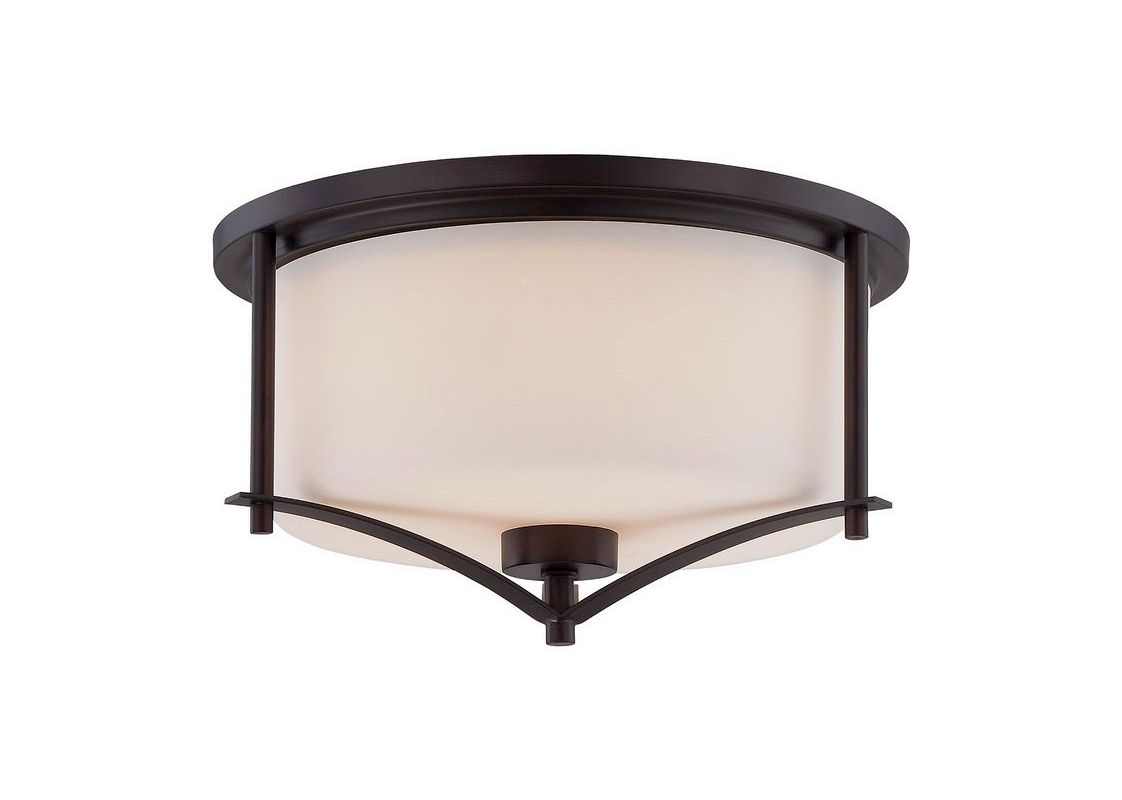 "Savoy House 6-335-15 Colton 2 Light 14.5"" Wide Flush Mount Ceiling Sale $104.00 ITEM#: 2602838 MODEL# :6-335-15-13 UPC#: 822920248443 :"