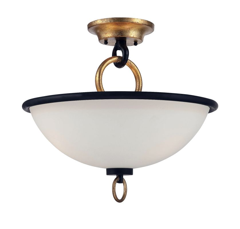 Savoy House 6-562-3 Parkdale 3 Light Semi Flush Mount Ceiling Fixture