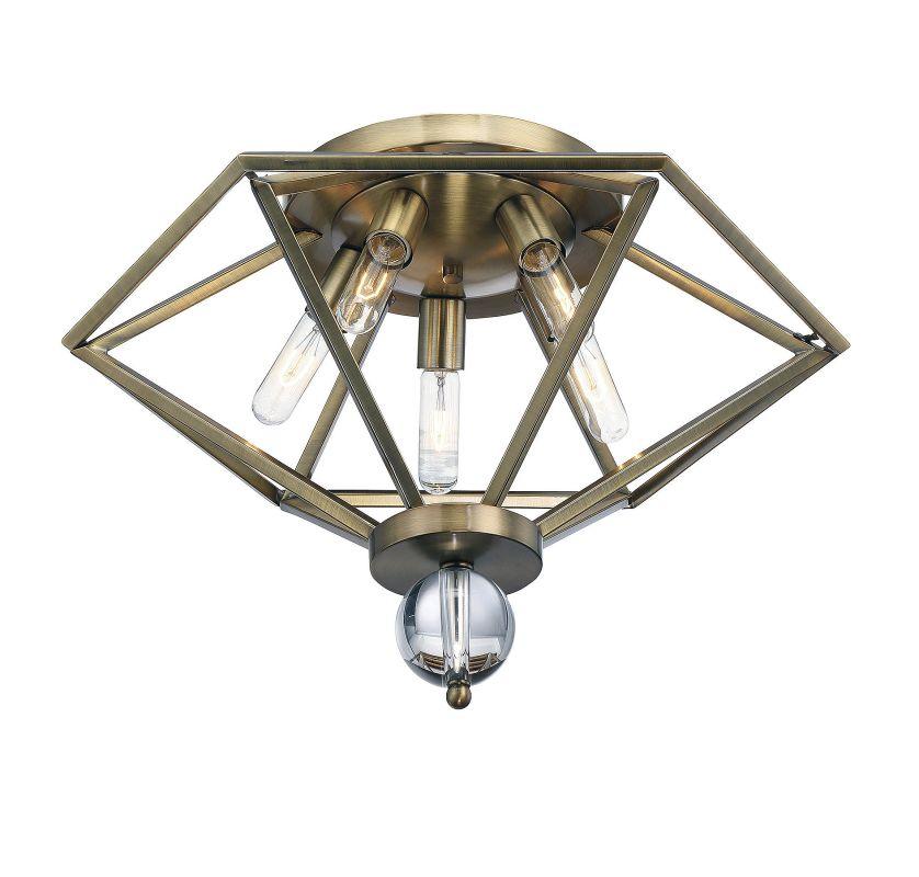 Savoy House 6-682-5 Tekoa 5 Light Flush Mount Ceiling Fixture Warm