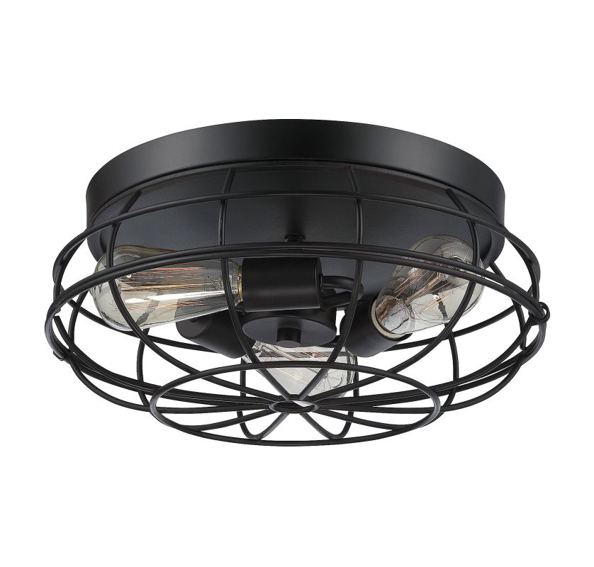 Savoy House 6-8074-15 Scout 3 Light Flush Mount Ceiling Fixture