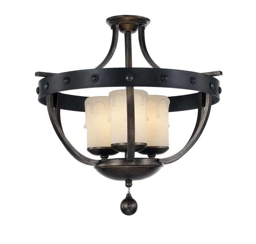 Savoy House 6-9545-3 Alsace 3 Light Semi Flush Mount Ceiling Fixture