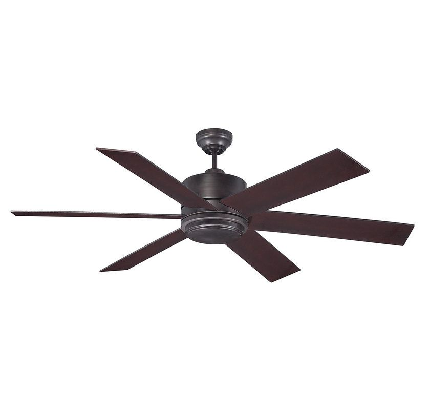Savoy House 60-820-6 Velocity 6 Blade Ceiling Fan with 1 Bulb Light