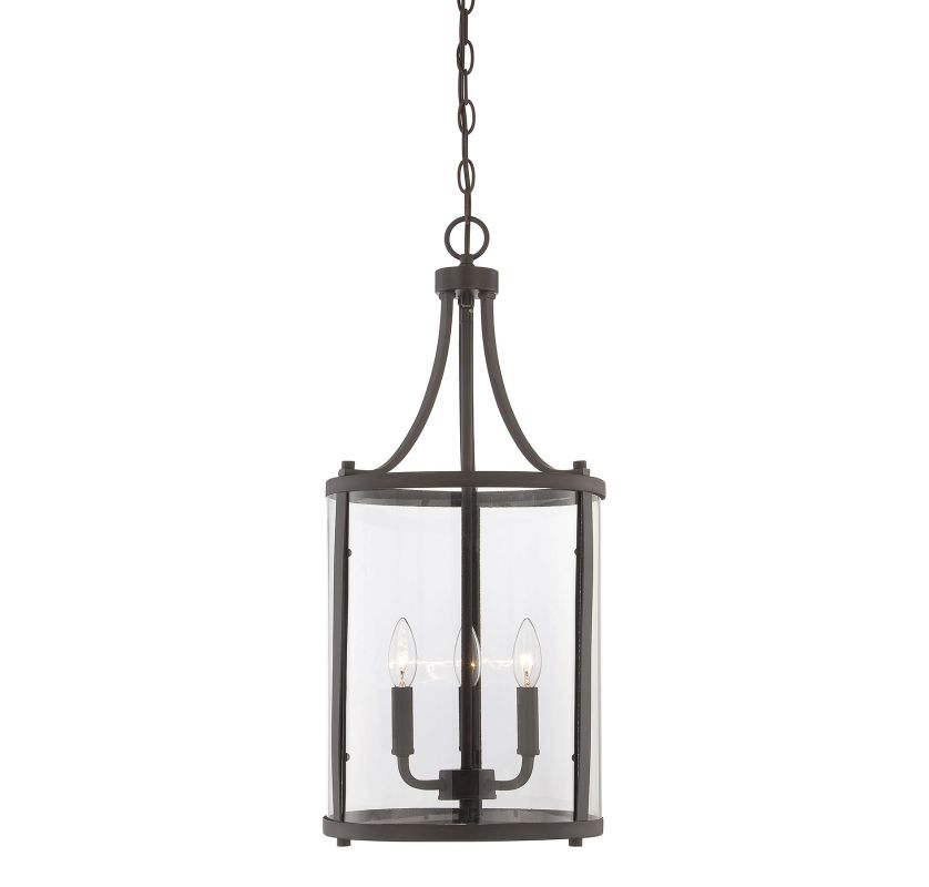 "Savoy House 7-1040-3 Penrose 3 Light 12"" Wide Pendant English Bronze"