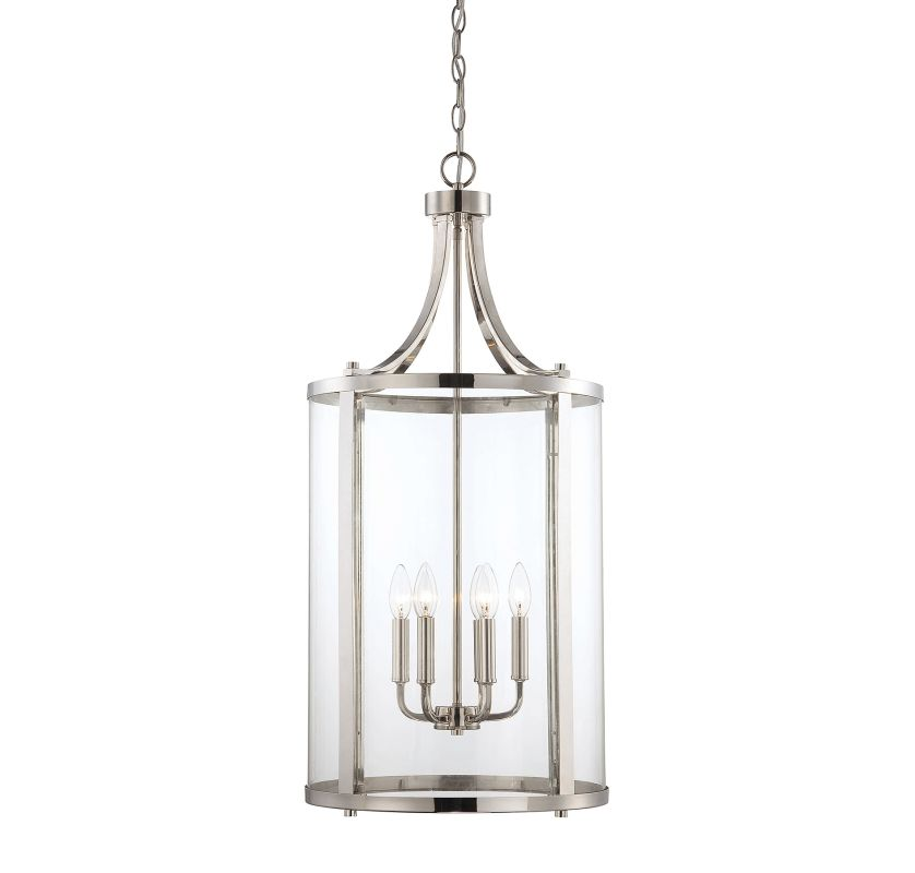 "Savoy House 7-1041-6 Penrose 6 Light 16"" Wide Pendant Polished Nickel"