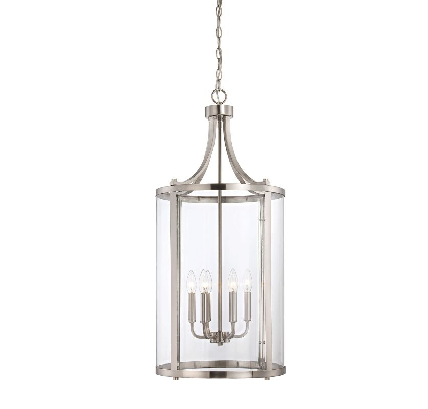 "Savoy House 7-1041-6 Penrose 6 Light 16"" Wide Pendant Satin Nickel"