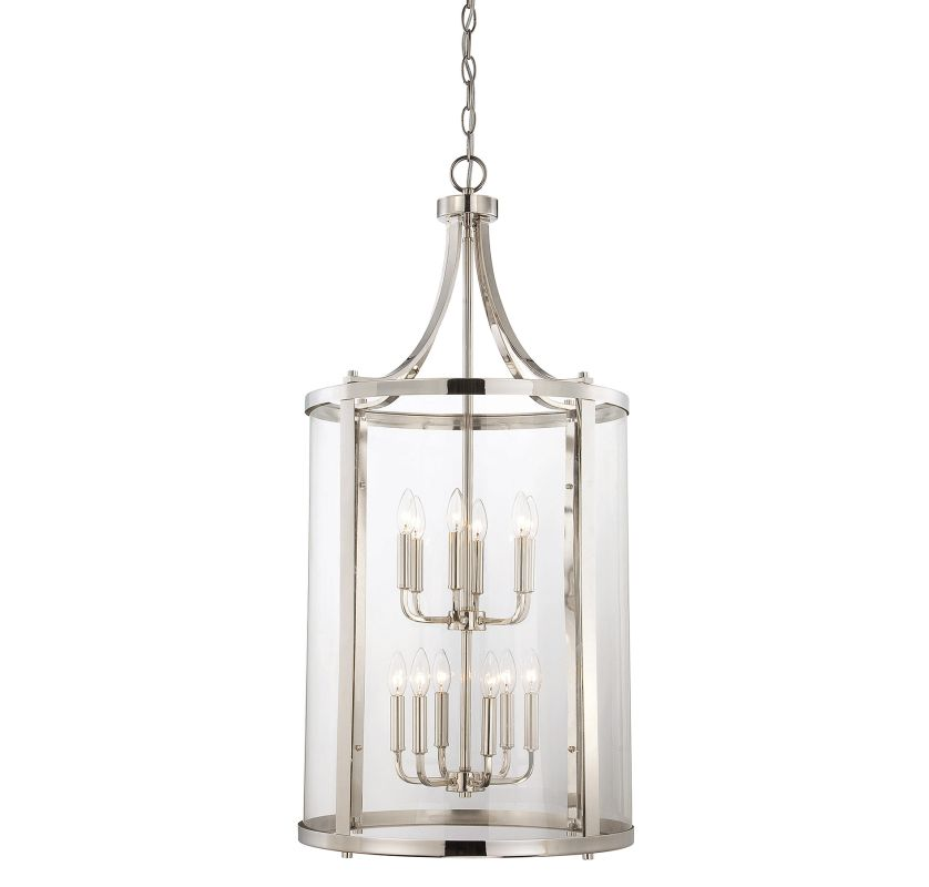 "Savoy House 7-1042-12 Penrose 12 Light 20"" Wide Pendant Polished"