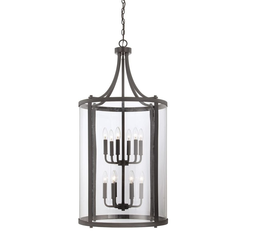 "Savoy House 7-1042-12 Penrose 12 Light 20"" Wide Pendant English Bronze"