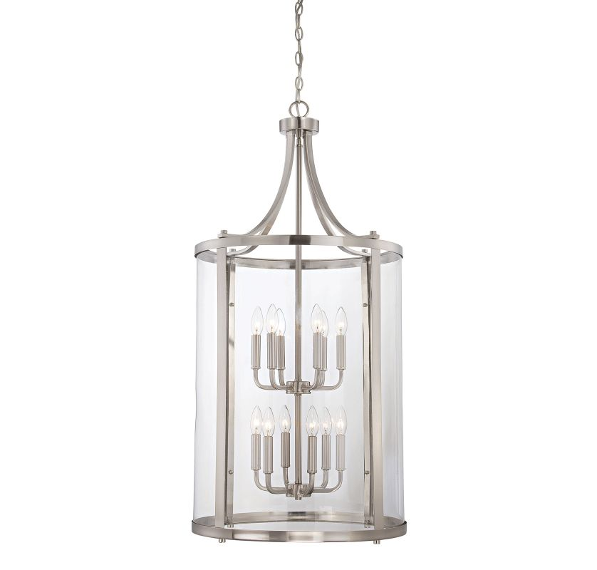 "Savoy House 7-1042-12 Penrose 12 Light 20"" Wide Pendant Satin Nickel"