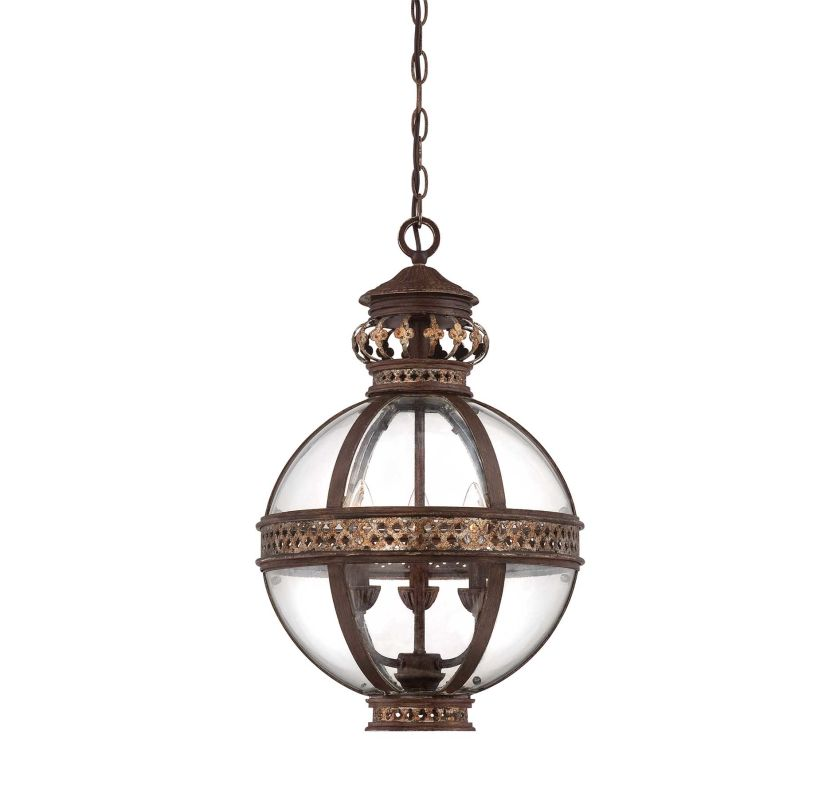 "Savoy House 7-1480-3 Strasbourg 3 Light 14.5"" Wide Pendant Fiesta"