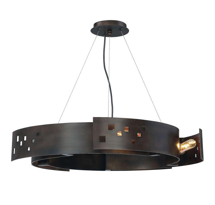 Savoy House 7-160-5 Odessa 5 Light Pendant Bronze Ore Indoor Lighting