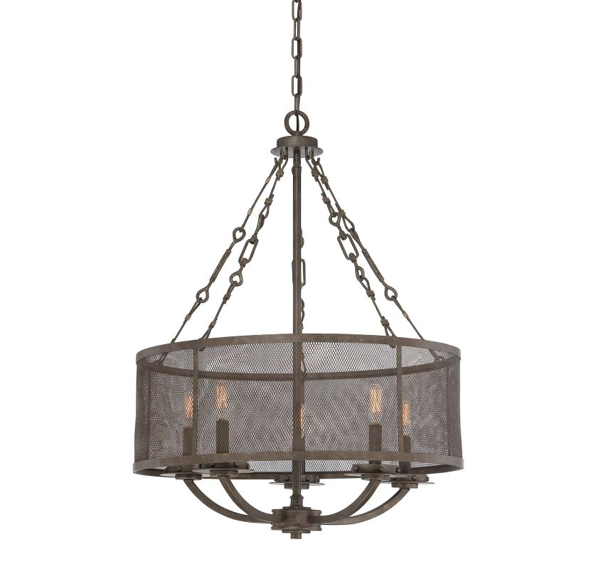 "Savoy House 7-2502-5 Nouvel 5 Light 24"" Wide 1 Tier Chandelier Galaxy"