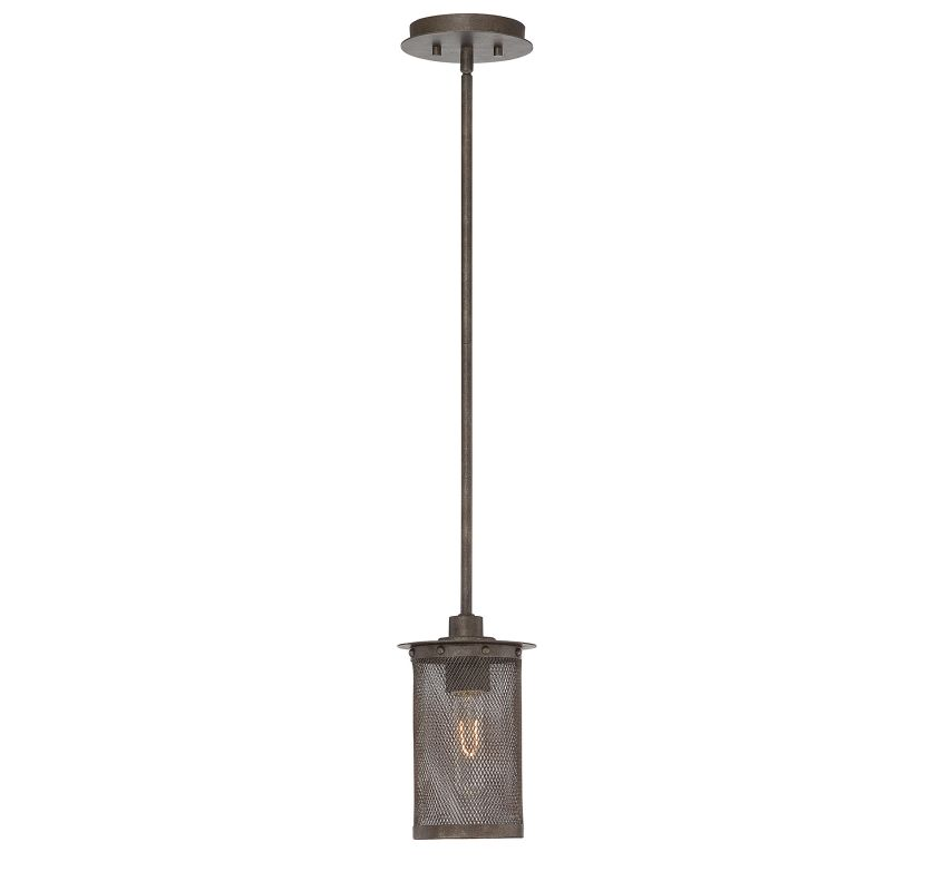 "Savoy House 7-2503-1 Nouvel 1 Light 7"" Wide Pendant with Crystal"