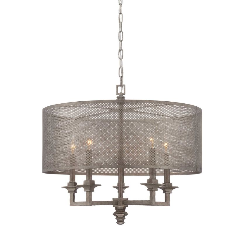 "Savoy House 7-4306-5 Structure 5 Light 24"" Wide 1 Tier Chandelier Aged"
