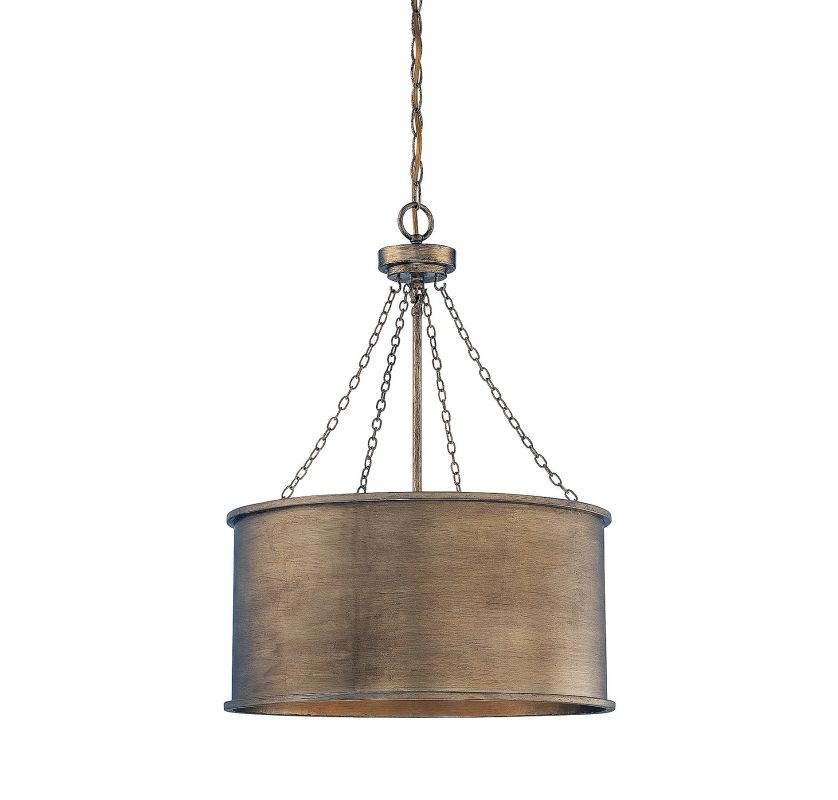 Savoy House 7-487-4 Rochester 4 Light Pendant Gold Patina Indoor