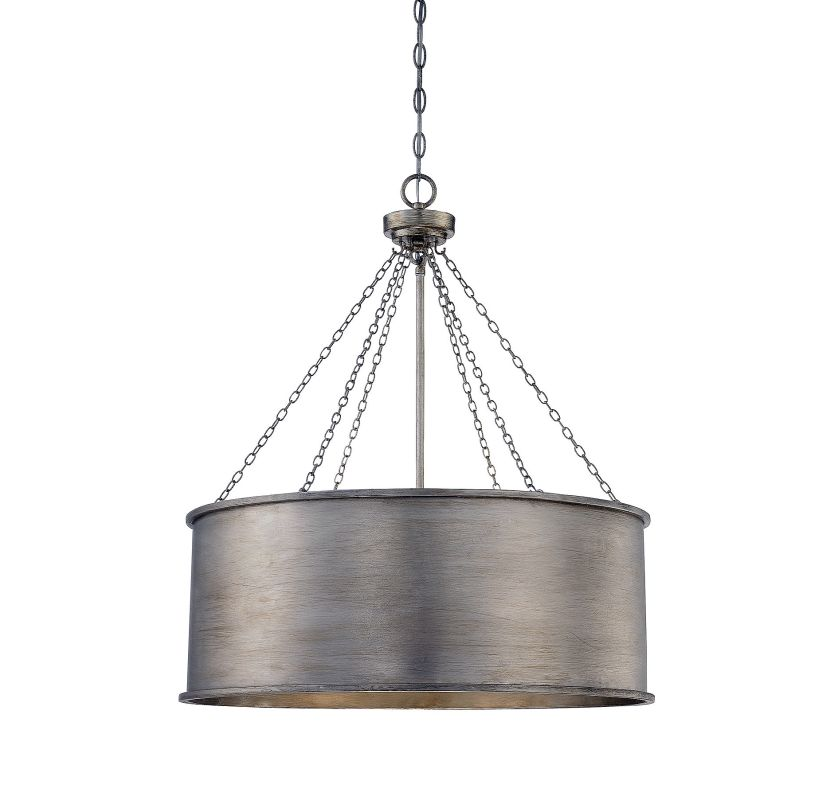 Savoy House 7-488-6 Rochester 6 Light Pendant Silver Patina Indoor