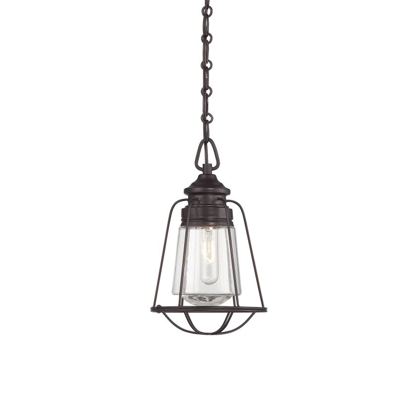 "Savoy House 7-5060-1 Vintage Pendant 1 Light 7.75"" Wide Pendant"