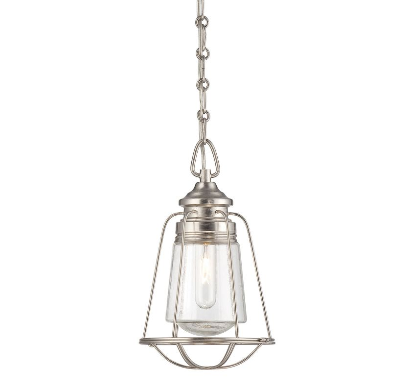 "Savoy House 7-5060-1 Vintage Pendant 1 Light 7.75"" Wide Pendant Satin"