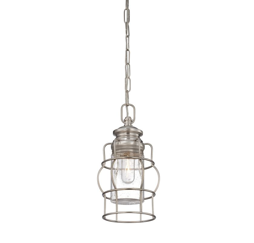 "Savoy House 7-5061-1 Vintage Pendant 1 Light 6.75"" Wide Pendant Satin"