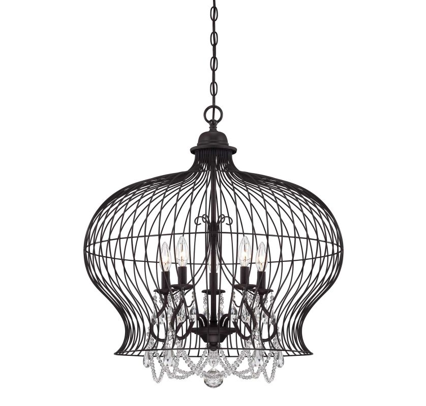 "Savoy House 7-6101-5 Abagail 5 Light 26"" Wide 1 Tier Chandelier with"