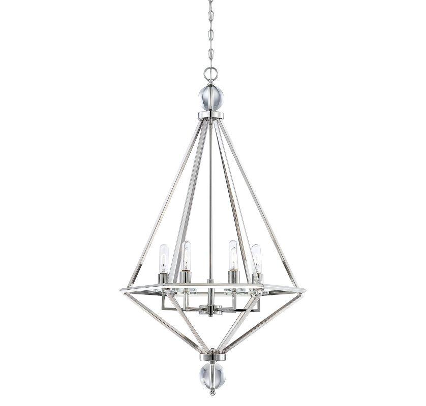 Savoy House 7-680-6 Tekoa 6 Light Pendant Polished Nickel Indoor