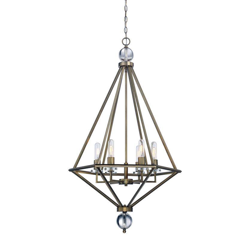 Savoy House 7-680-6 Tekoa 6 Light Pendant Warm Brass Indoor Lighting