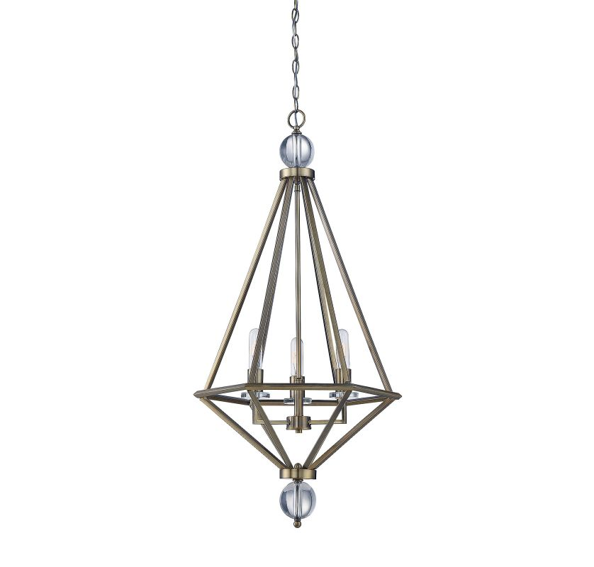 Savoy House 7-681-3 Tekoa 3 Light Pendant Warm Brass Indoor Lighting