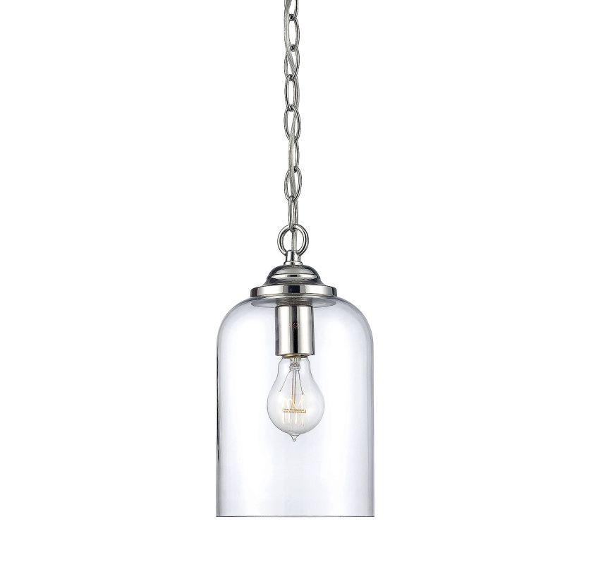 Savoy House 7-700-1 Bally 1 Light Pendant Polished Nickel Indoor