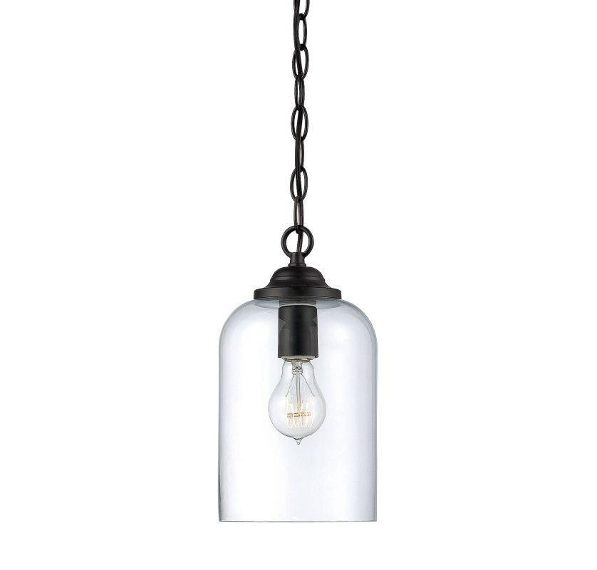 Savoy House 7-700-1 Bally 1 Light Pendant English Bronze Indoor