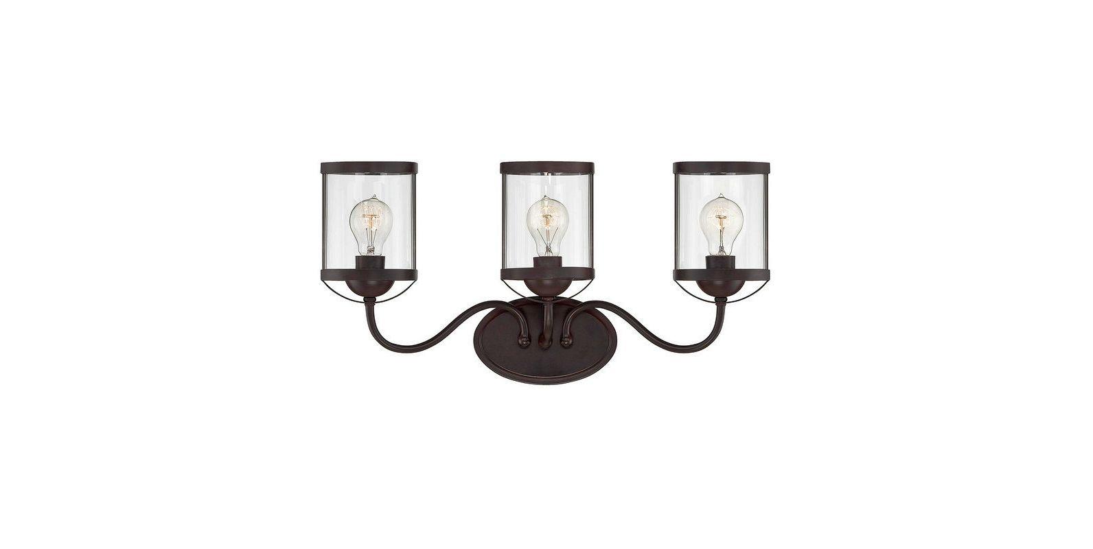 "Savoy House 8-235-3 Bergen 24.5"" Wide 3 Light Bathroom Vanity Light Sale $270.00 ITEM#: 2602721 MODEL# :8-235-3-13 UPC#: 822920247934 :"