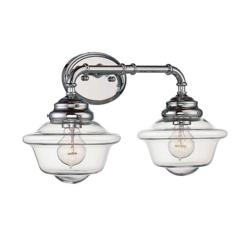 Savoy House 8-393-2 Fairfield 2 Light Bathroom Vanity Light Chrome