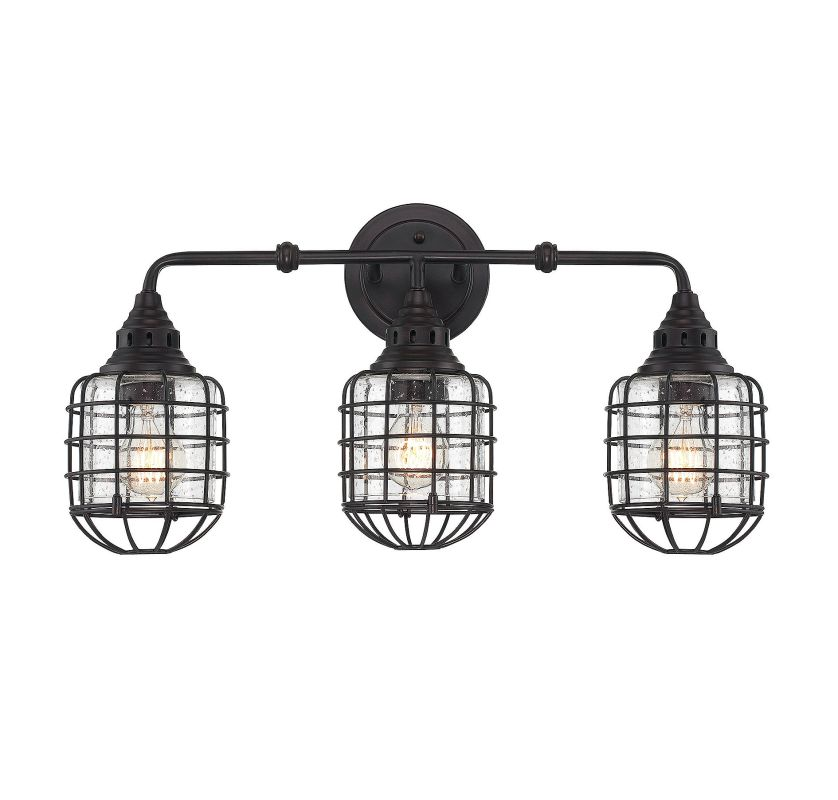 Savoy House 8-575-3 Connell 3 Light Cage Bathroom Vanity Light English Sale $278.00 ITEM#: 2843927 MODEL# :8-575-3-13 UPC#: 822920249846 :
