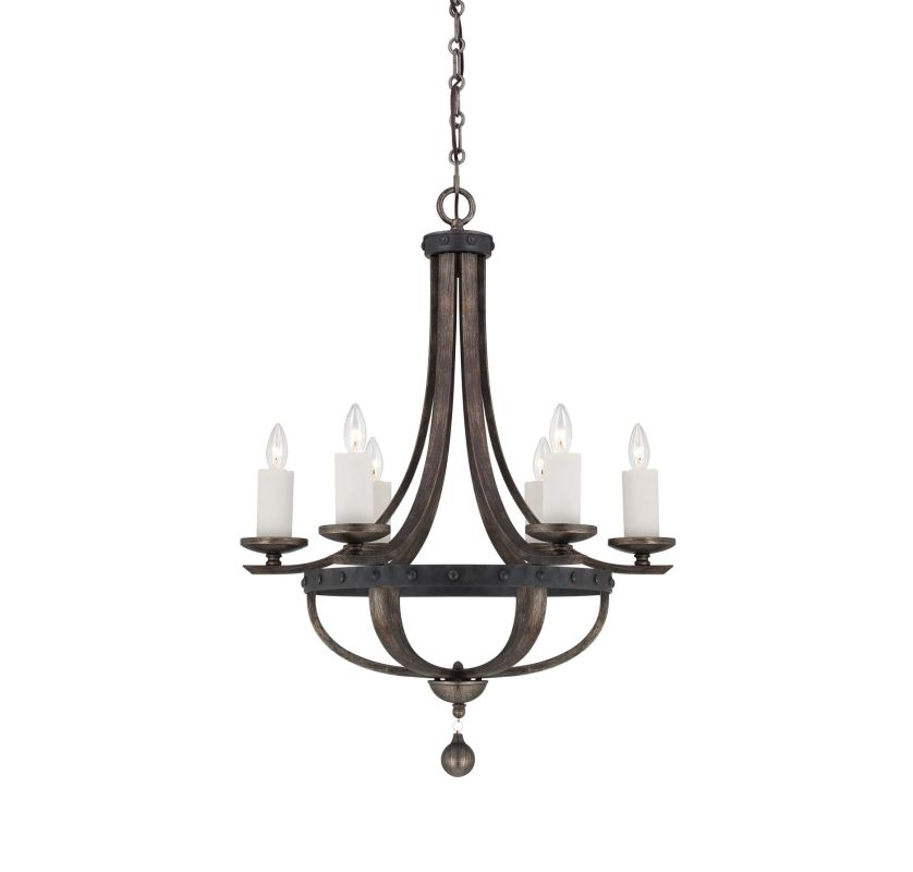 "Savoy House 1-9530-6 Alsace 6 Light 25"" Wide 1 Tier Chandelier"