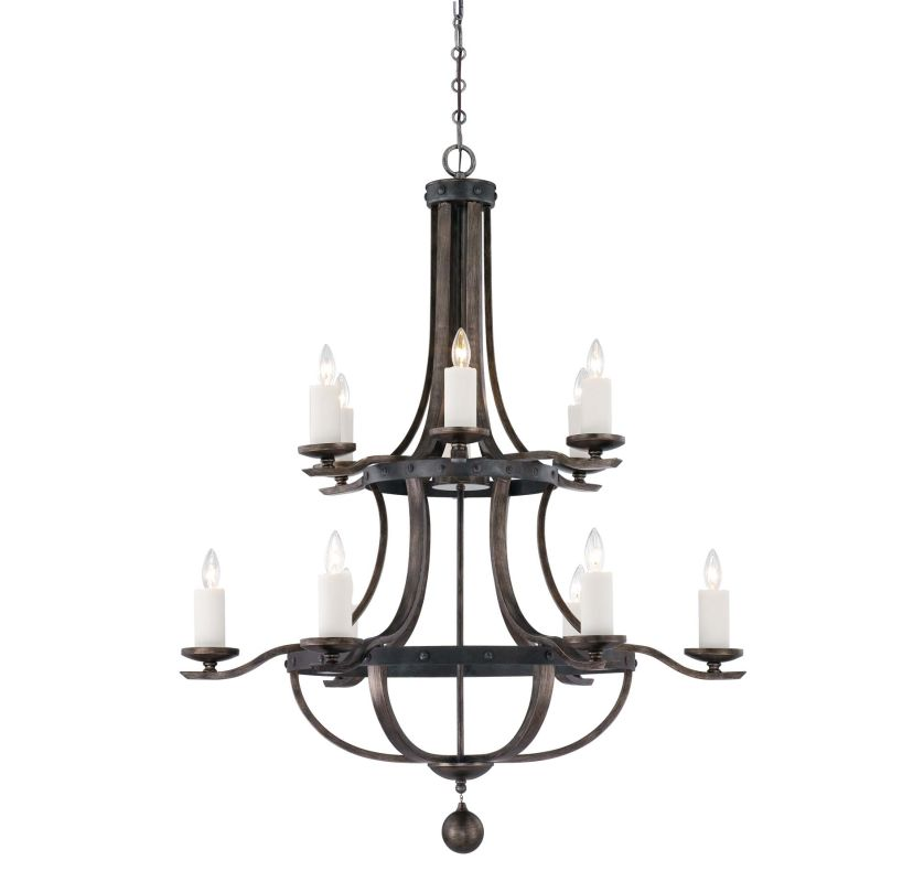 "Savoy House 1-9532-12 Alsace 12 Light 38"" Wide 2 Tier Chandelier"